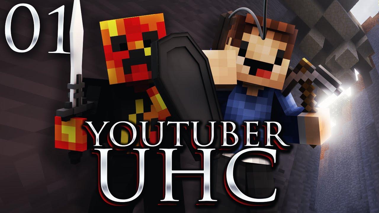 Minecraft YOUTUBER 8.8 UHC!  #8 (Ultra Hard Core) with PrestonPlayz &  Woofless