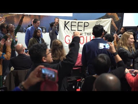 """Shame On You!"" Protesters Interrupt Trump Admin Promoting Coal & Fossil Fuels at U.N. Climate Talks"