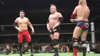 NOAH  - Chris Hero, Eddie Edwards & Smith vs Kenta Kobashi, Tamon Honda & Ito