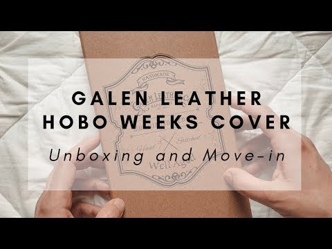 Galen Leather Hobonichi Weeks Cover   UNBOXING And MOVE-IN   The Pixie Planner