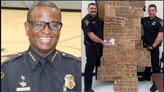 "Bama Police Officers Joke by Posing With ""Homeless Quilt"" Made From Panhandling Signs!"