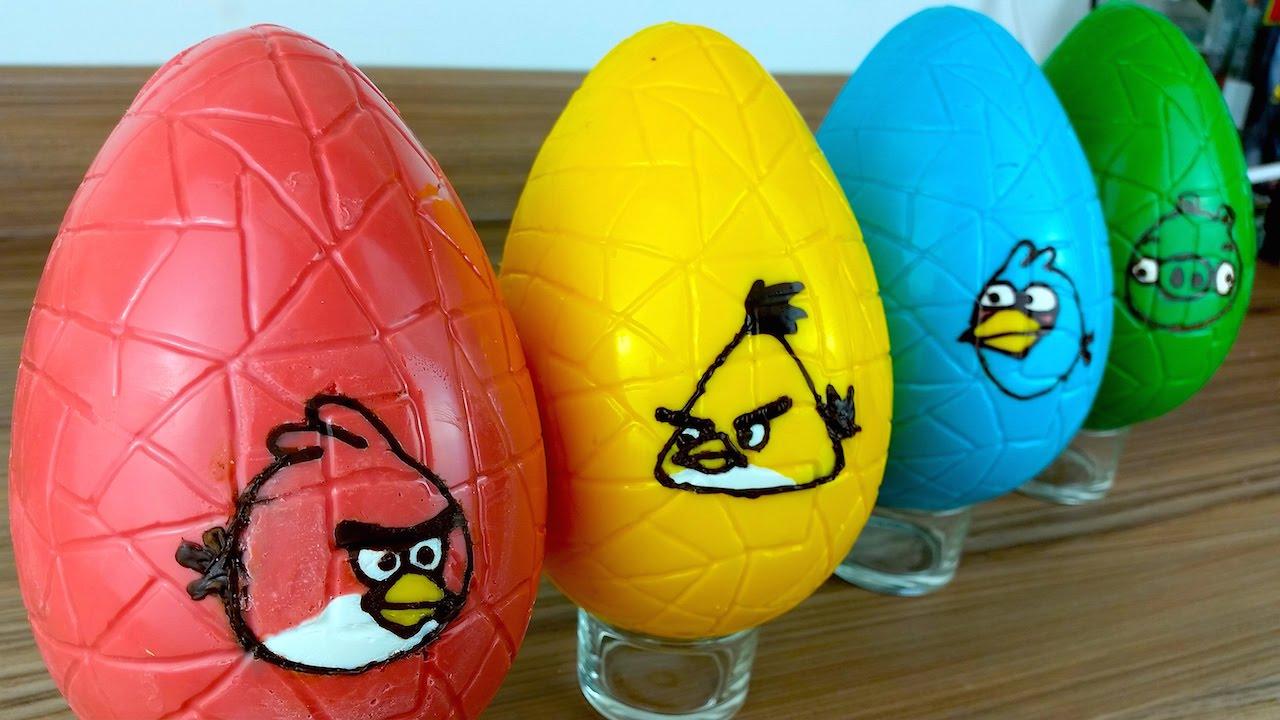 Egg Character Design Ideas : Angry birds easter eggs diy multicoloured rainbow candy eggs