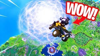 FLY THROUGH THE PORTAL OF THE CUBE!! QUADCRASHER GLITCH TESTING! Fortnite Battle Royale