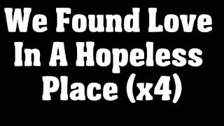 Rihanna Ft Calvin Harris - We Found Love (LYRICS) CD/HQ