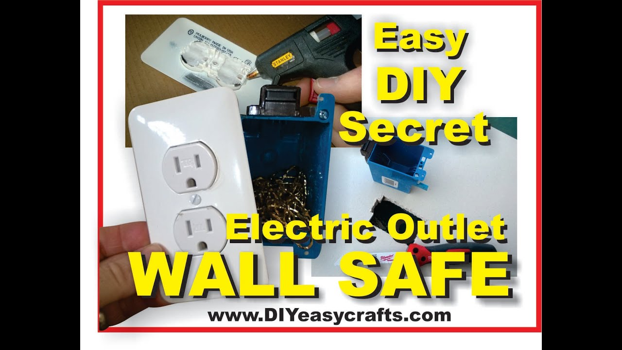 How To Make A Easy Diy Secret Hidden Electric Outlet Wall