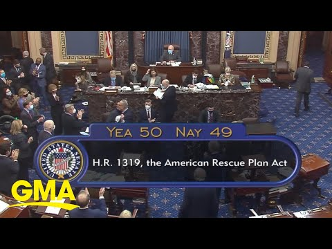 Senate passes $1.9 trillion COVID relief package | GMA - Good Morning America