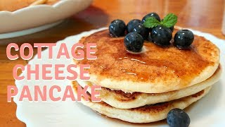 How to make Fluffy Cottage Cheese Pancake / Recipe ふわふわカッテージチーズパンケーキ レシピ