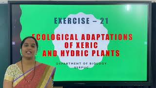 II PUC   BIOLOGY LAB   ECOLOGICAL ADAPTATIONS PLANTS  - EXERCISE  21