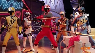 """Power Rangers Super Ninja Steel - Blue Rangers Mission   Episode 22 """"The Poisy Show""""   Dino Charge"""