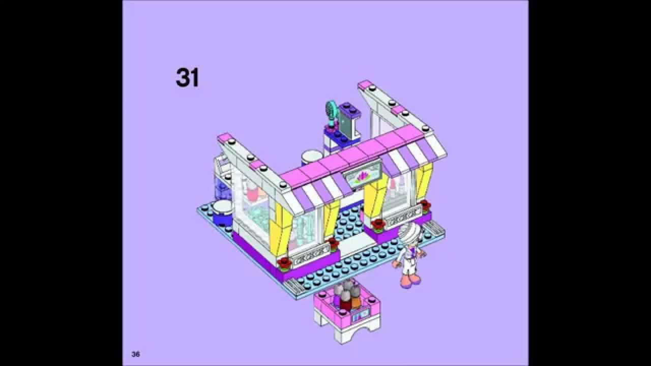 Lego Friends 41058 Heartlake Shopping Mall Building Instructions