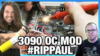 RIP BATTLE: Modded RTX 3090 Overclock & Optimus Water Blocks (#RIPPAUL, #RIPJAY)