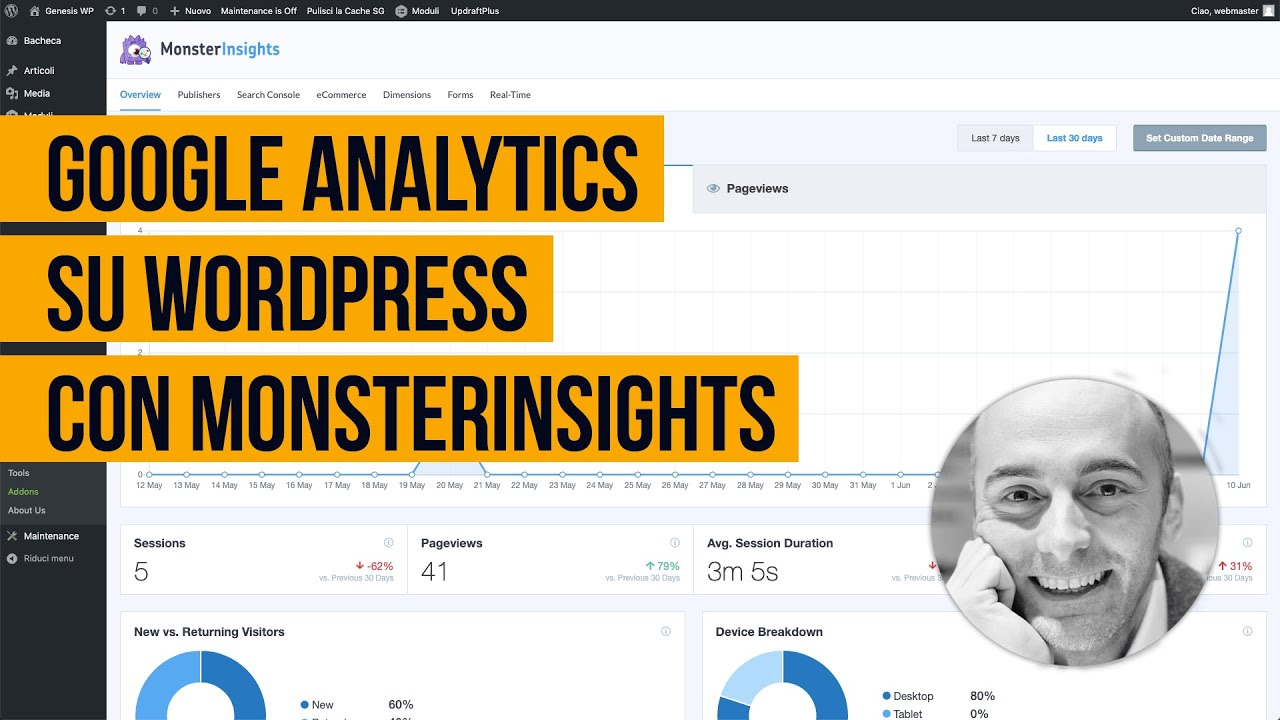 Come installare Google Analytics su WordPress con il plugin MonsterInsights