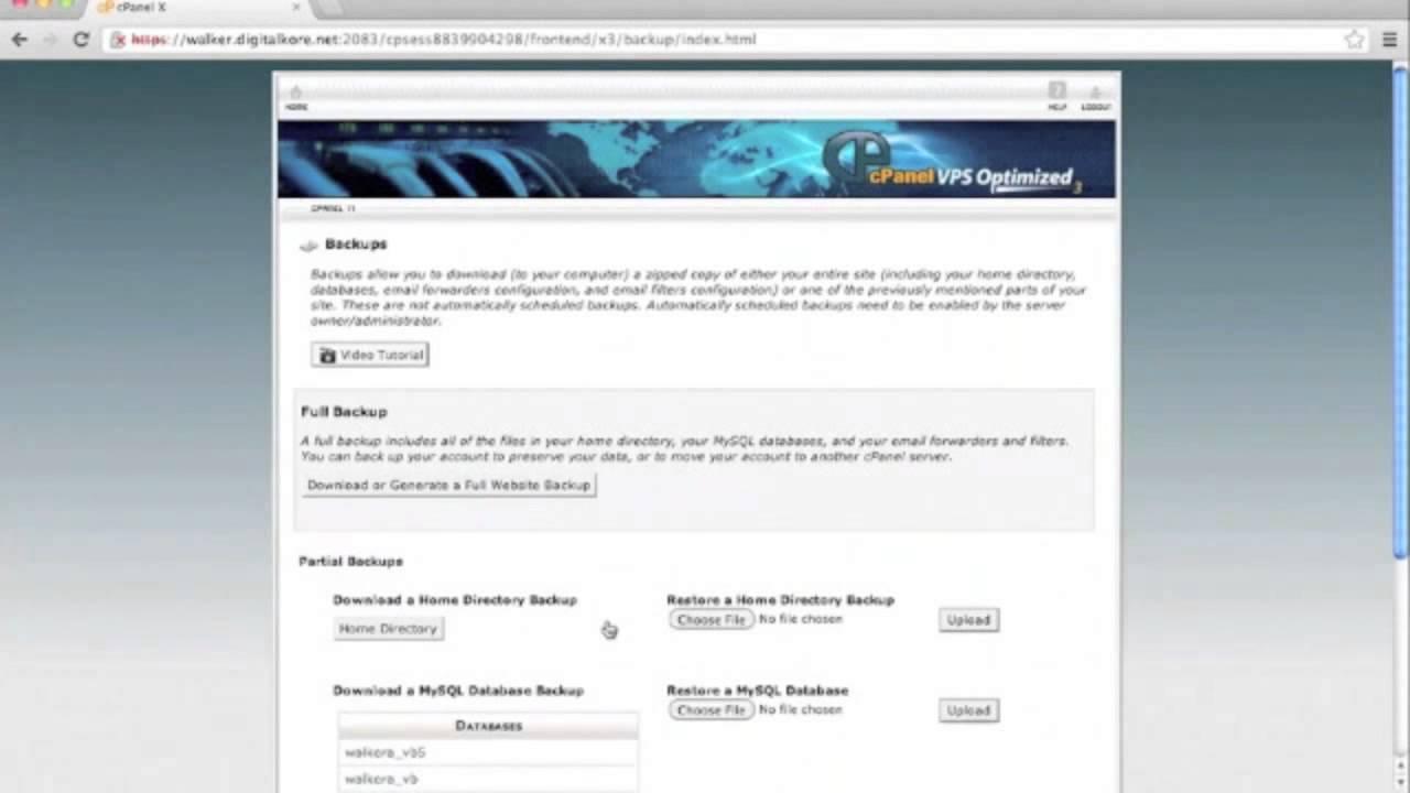 vBulletin 5 Connect: Restore Database via Backup Channels
