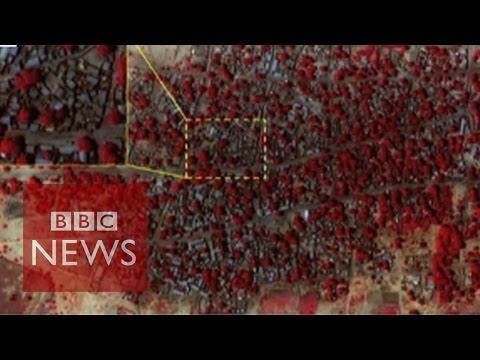 Boko Haram: Destruction of Nigerian town shown in satellite images