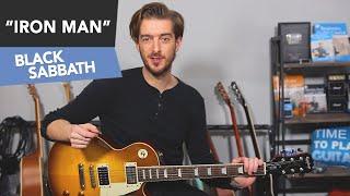 Iron Man EASY Guitar Lesson Tutorial - Black Sabbath - Power Chords for Beginners