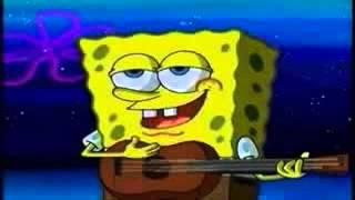 Bob esponja cantando Yo solo quiero darte un beso