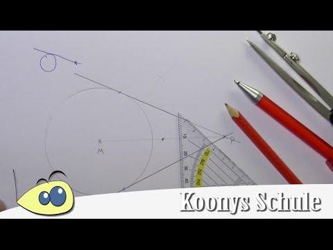tangente-an-kreis-mit-punkt,-geometrie,-konstruktion-mit-zirkel
