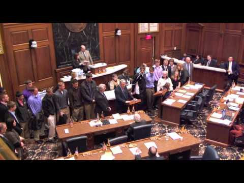 Patterson Honored At Indiana Statehouse