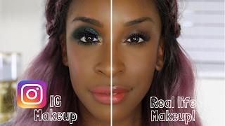 IG Makeup Vs. Real Life Makeup | Jackie Aina