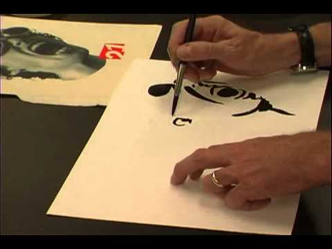 Ink Wash demonstration by Wil Bosbyshell