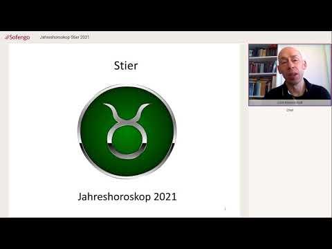 Jahreshoroskop Stier 2021