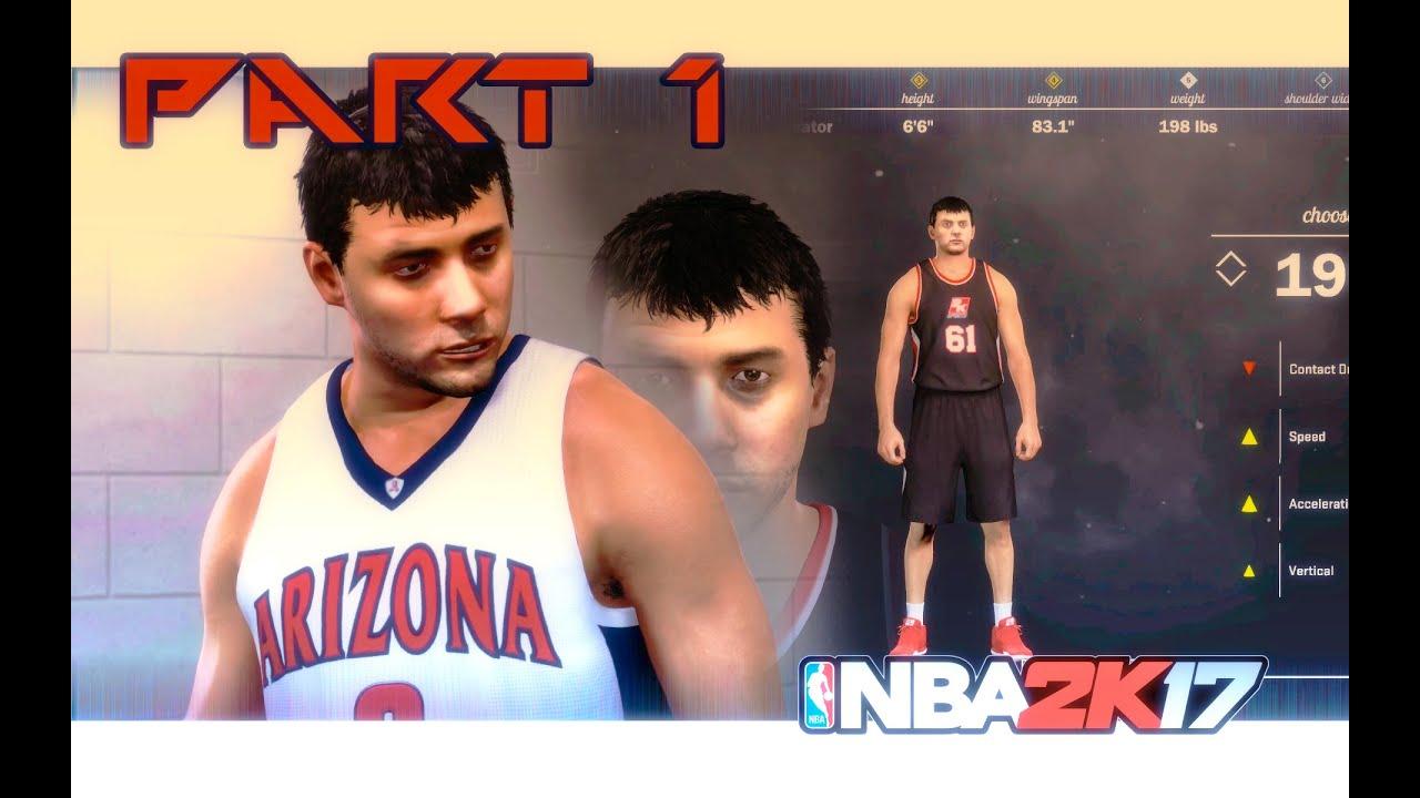 Nba 2k17 Part 1 My Career Playing For Arizona Wildcats Youtube