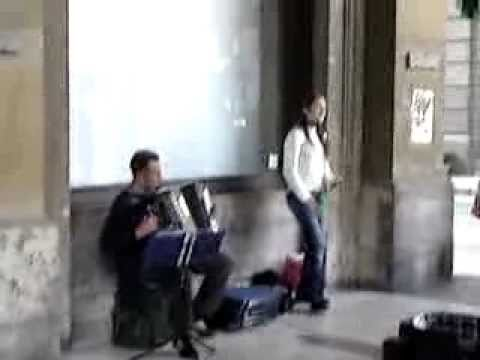 Opera singer in Florence, Italy