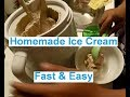 Making Homemade Ice Cream Fast & Easy ~ Done In Minutes