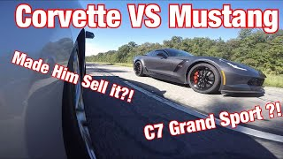 C7  Corvette Owner Said He Can Beat My Mustang!! And Pop gets some upgrades