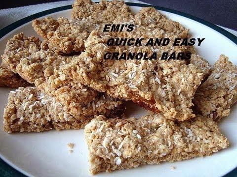QUICK AND EASY GRANOLA BARS Recipe.