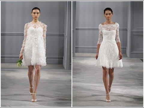 Simple White Long Dress For Civil Wedding