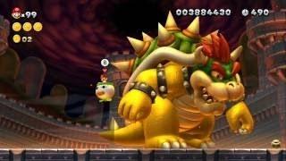 New Super Mario Bros. U - All 18 Boss Fights - Koopalings, Boom Boom, Kamek, Bowser Jr. & Bowser