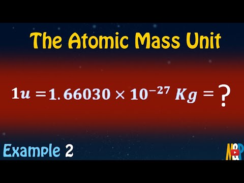 The Atomic Mass Unit
