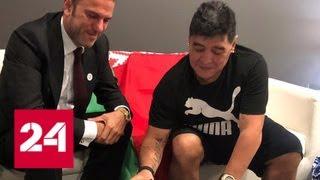 Смотреть видео Диего Марадона подписал контракт с брестским
