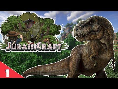 Minecraft JurassiCraft : 1 : โลกแห่งไดโนเสาร์ - YouTube