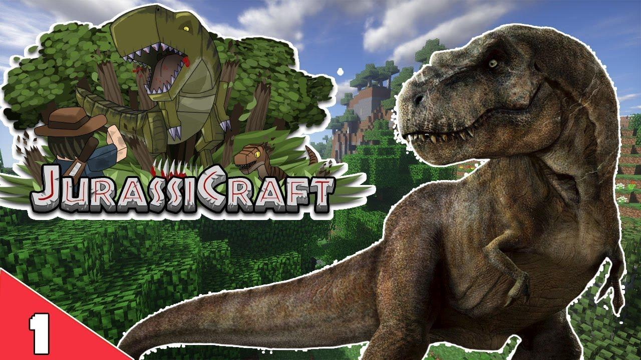 Minecraft JurassiCraft : 1 : โลกแห่งไดโนเสาร์