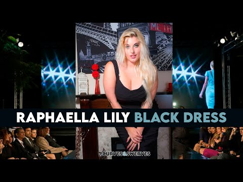 👉👉👉 RAPHAELLA LILY Black Dress | BBW Curvy Model