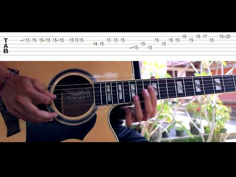 Avenged Sevenfold - Seize The Day Acoustic Guitar Solo Lesson With Tab