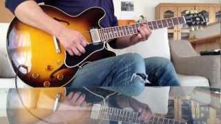 Gibson ES-335 Slow Blues Improvisation