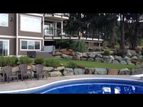 20x40 vinyl pool with retaining wall