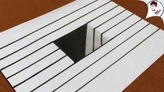 Siêu Dễ !! Làm NTN để vẽ HỐ 3D ĐÁNH LỪA THỊ GIÁC Ảo Lòi