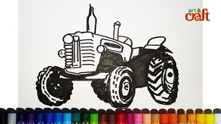 How to Draw a Tractor Easy Step by Step