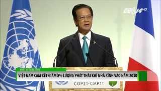 (VTC14)_Thủ tướng Nguyễn Tấn Dũng: Việt Nam cam kết giảm 8% khí nhà kính vào năm 2030