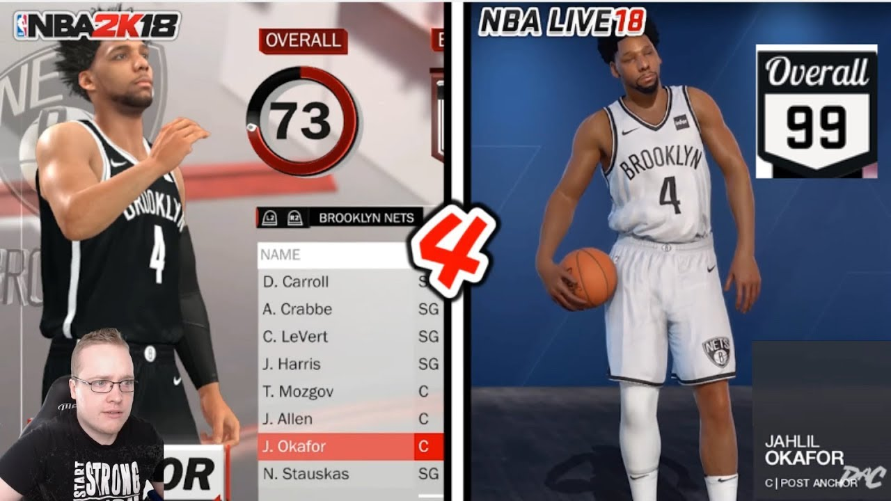 10 EXTREMELY OVERRATED NBA Live 18 Player Ratings Compared to NBA 2K18