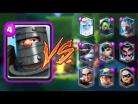 DARK PRINCE VS ALL CARDS IN CLASH ROYALE | DARK PRINCE 1 ON 1 GAMEPLAY