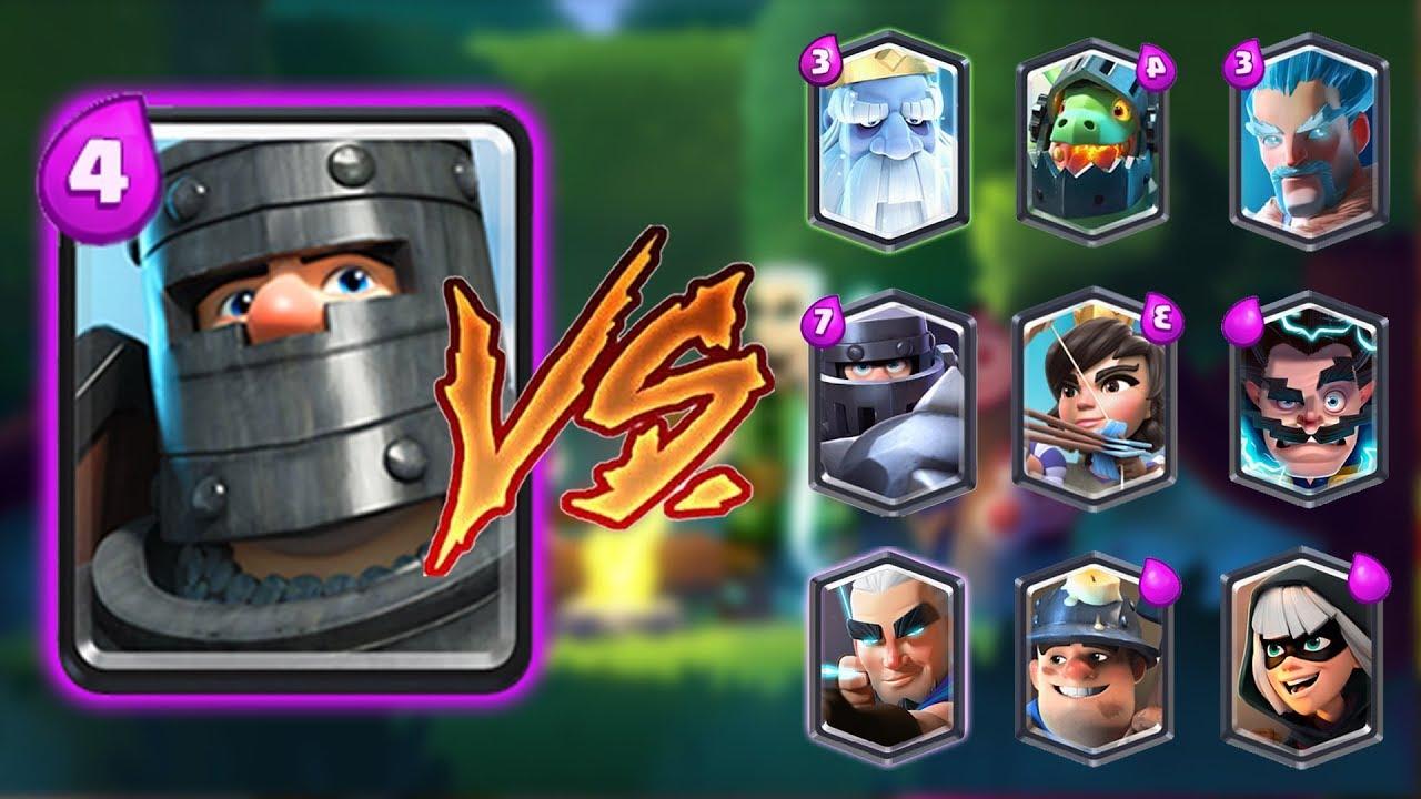 dark prince vs all cards in clash royale dark prince 1 on 1