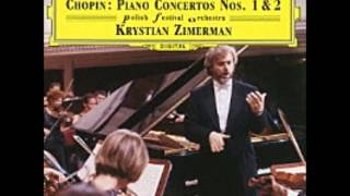 Krystian Zimerman Plays Chopin Piano Concerto No.1 【High Quality】【Complete】