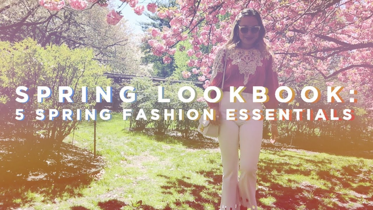 [VIDEO] - Spring Outfit Ideas Lookbook |  Spring Essentials | Brooklyn Botanic Garden 8