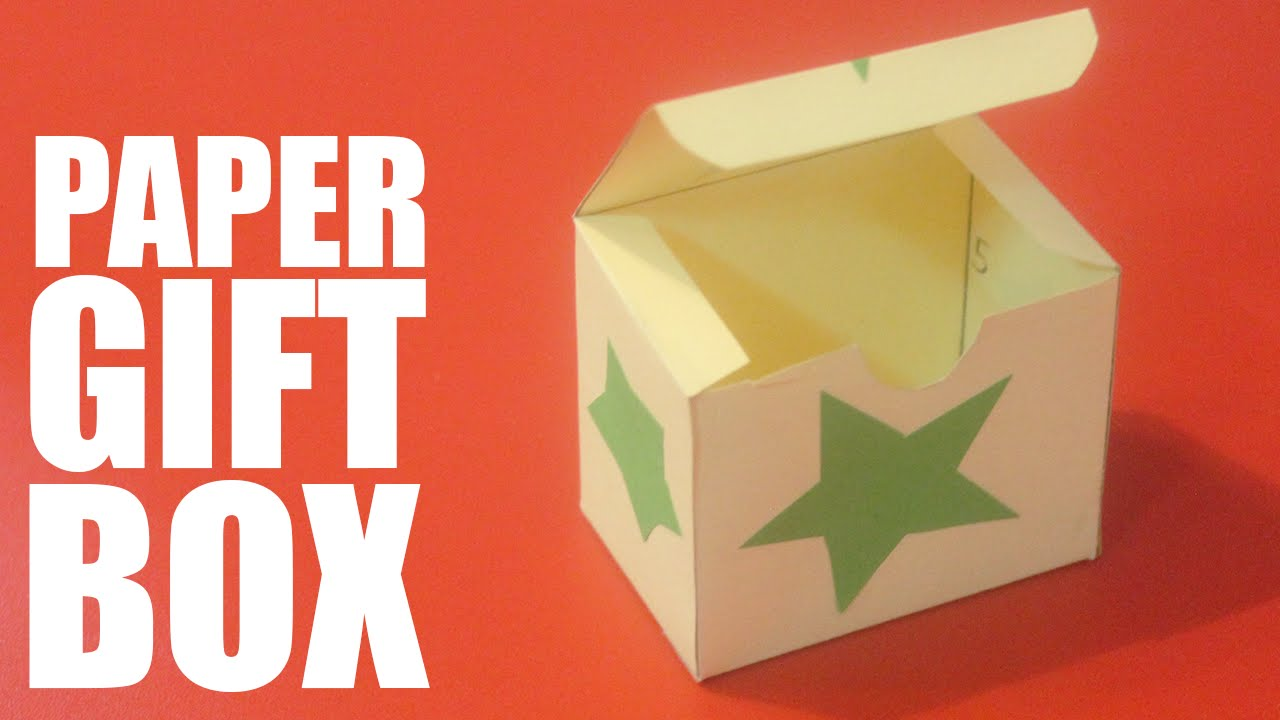 How To Make A Paper Gift Box With Lid Youtube
