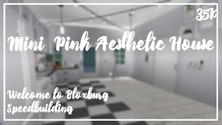 Mini Pink Aesthetic House || ROBLOX || Welcome to Bloxburg